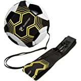 Soccer/Volleyball/Rugby Trainer, Football Kick Throw Solo Practice Training Aid Control Skills Adjustable Waist Belt for Kids