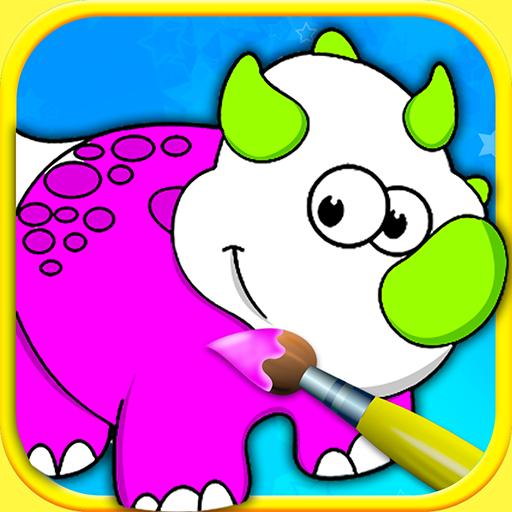 Libro de colorear para pintar con los dedos para niños y