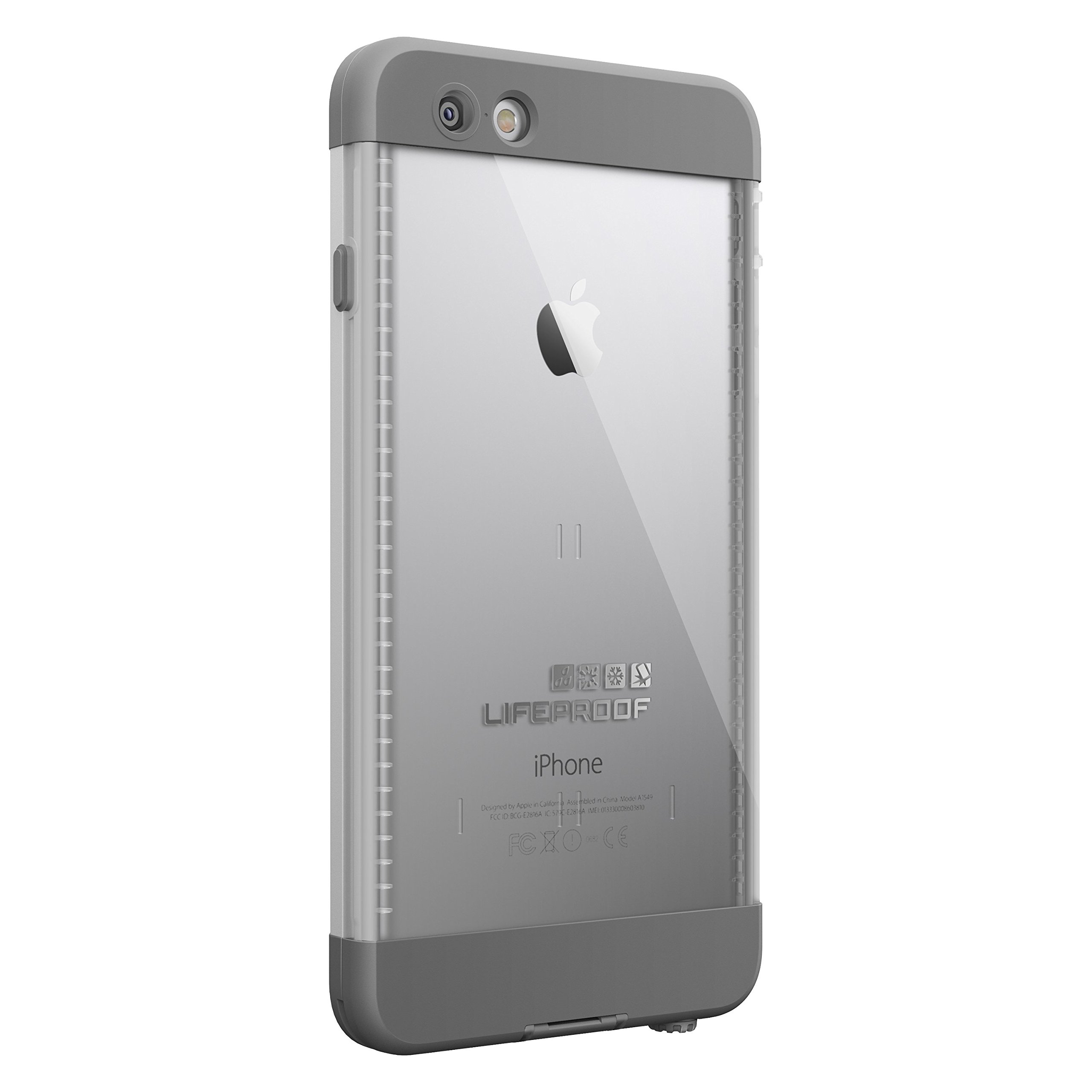 LifeProof NÜÜD iPhone 6 Plus ONLY Waterproof Case (5.5'' Version) - Retail Packaging - AVALANCHE (BRIGHT WHITE/COOL GREY) by LifeProof (Image #2)