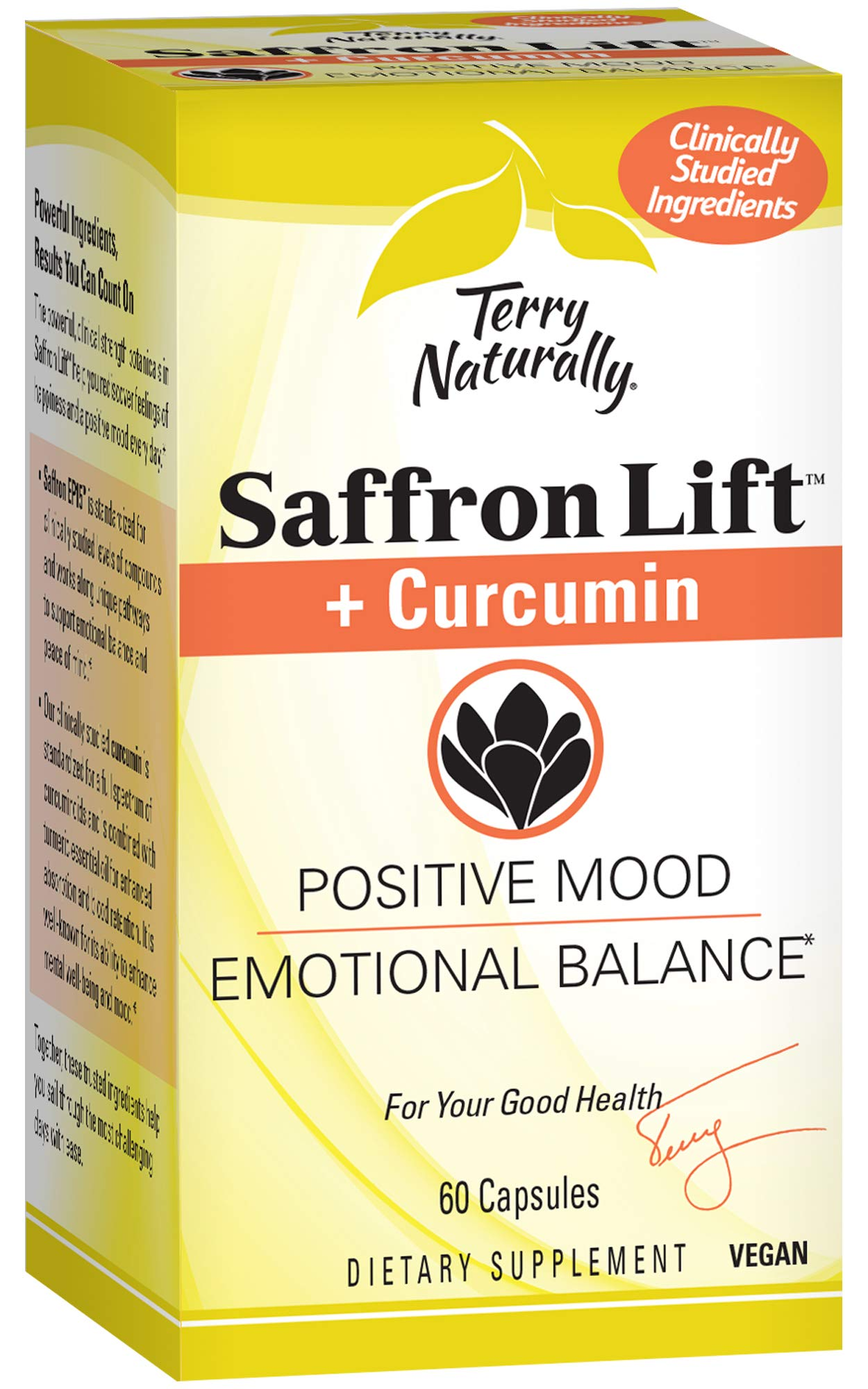 Terry Naturally Saffron Lift Plus Curcumin 60 Capsules