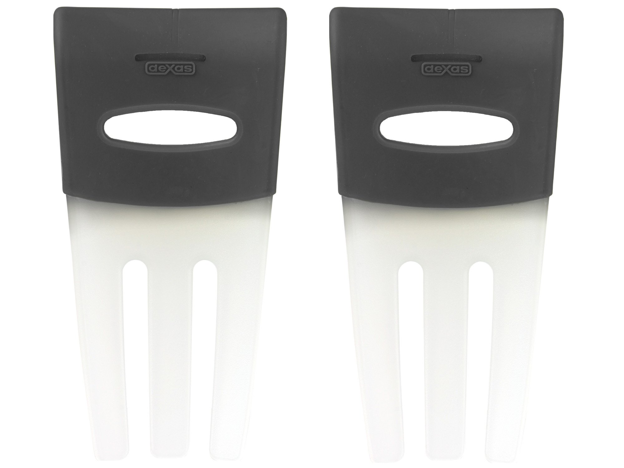 Dexas Salad Hands, Set of Two, Gray