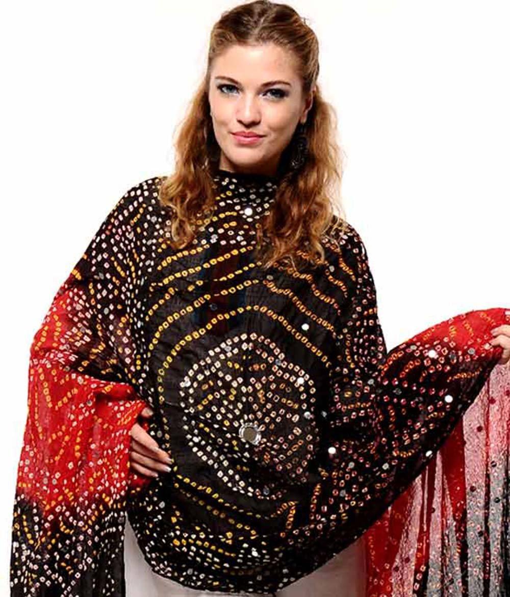 Women's Cotton Bandhej & Bandhani Dupatta Party Wear Wrap Indian Handicrfats Export BNW01