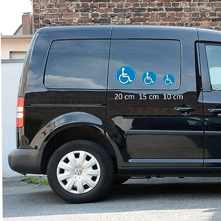 Pegatina adhesiva iSecur®, diseño de silla de ruedas, ideal para vehículos y sillas de ruedas, resistente a los rayos UV y a la intemperie, adecuado para el ...