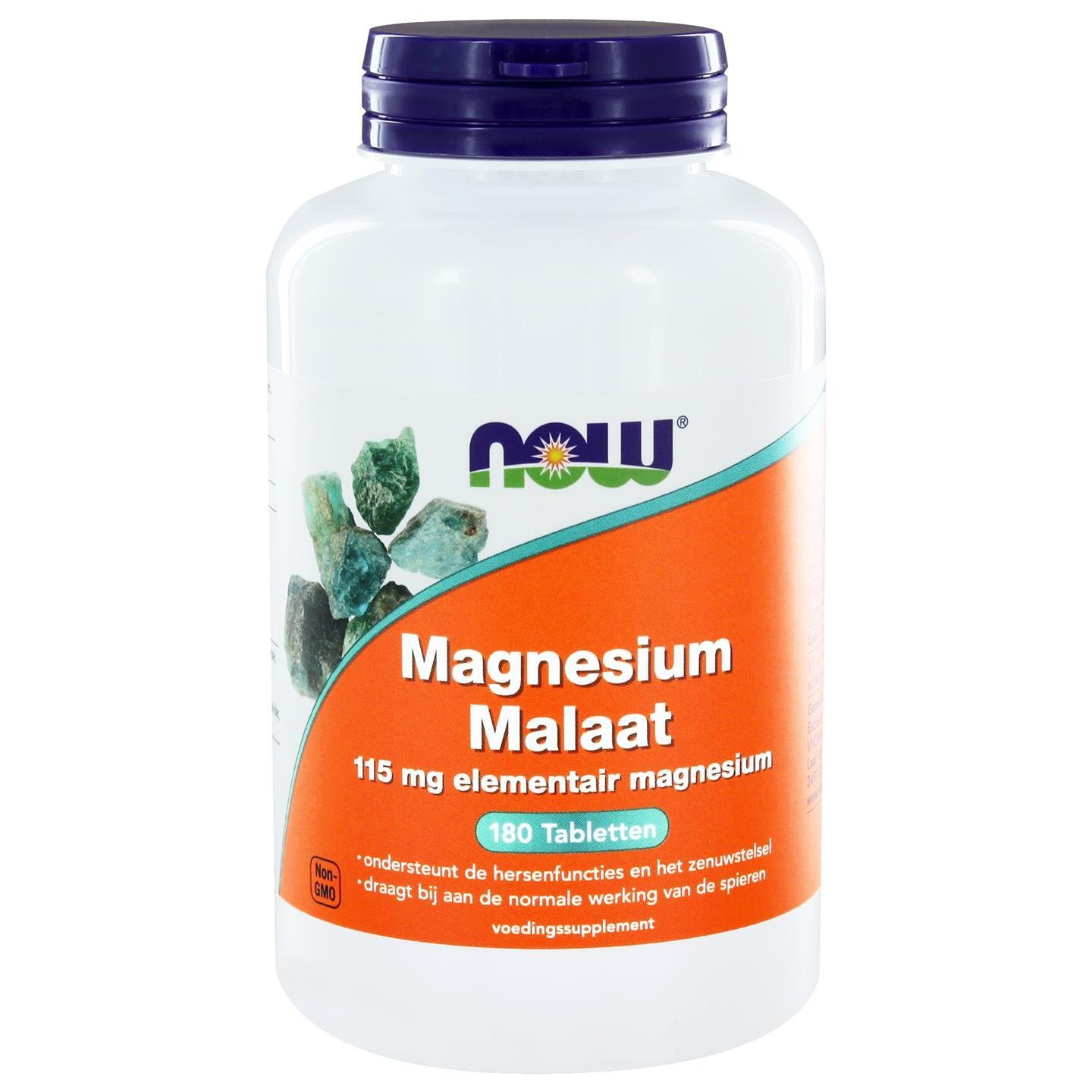Now Foods, Magnesium Malate, 1000mg, 180 Veg. Tabletten