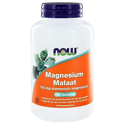 Now Foods | Malato de Magnesio (magensium malate) | 1.000 mg | 180 comprimidos