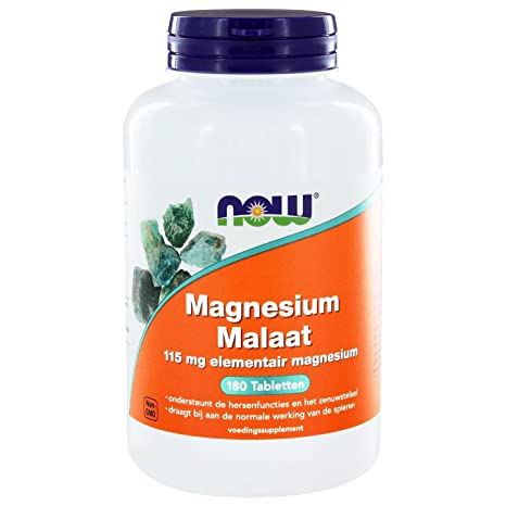 Now Foods | Malato de Magnesio (magensium malate) | 1.000 mg | 180 ...