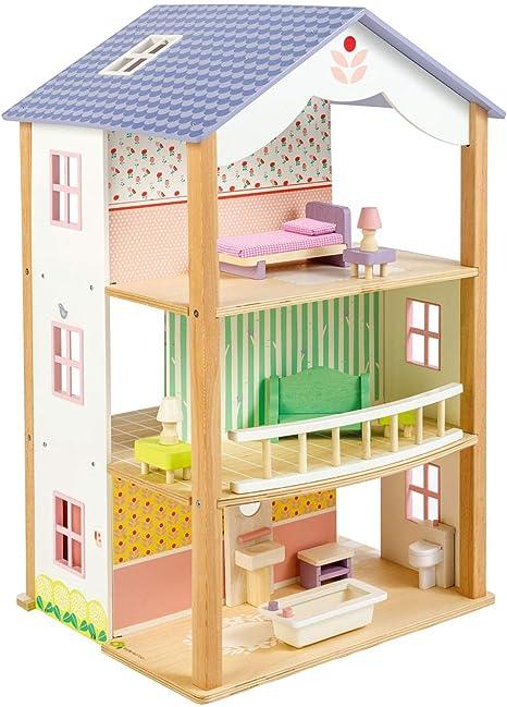 Tender Leaf Bluebird Villa - Juego de casa de muñecas de Madera ...