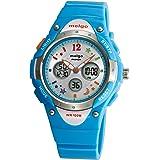 Wise® Boys Watch, Sports Watches, Girls Watches, Waterproof 100m Watches, Kids Watches 2001ad Cyan