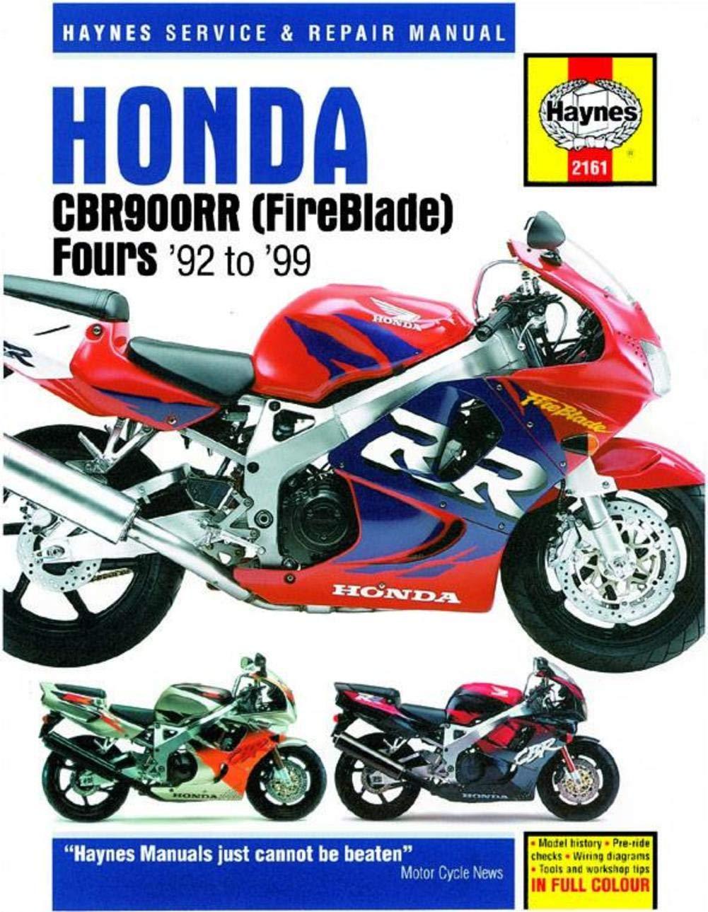 Haynes Manual 2161 HON.CBR900RR FIREBLADE 92-99 0243387