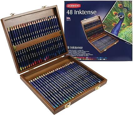 Derwent Inktense - Set de 48 lápices de colores, multicolor (importado): Amazon.es: Oficina y papelería