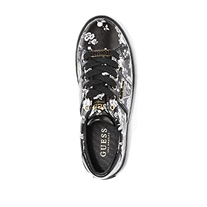 GUESS Factory Women s Gilda Logo Metallic Trim Low-Top Sneakers  b171f5c944