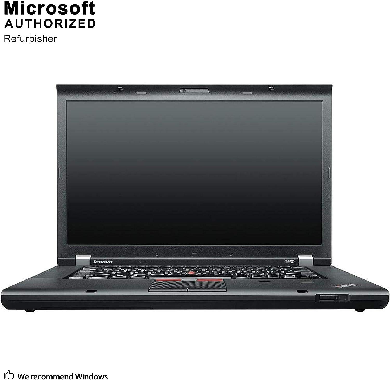 Lenovo ThinkPad T530 15.6 Inch Business Laptop, Intel Core i7-3520M up to 3.6GHz, 8G DDR3, 500G, DVD, VGA, Mini DP, Win 10 Pro 64 Bit Multi-Language Support English/French/Spanish(Renewed)