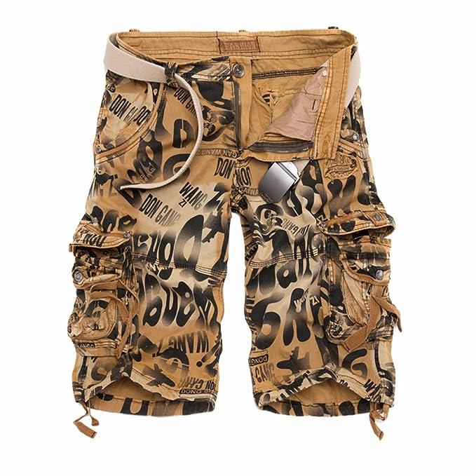 c895d9d5e99 TieNew Verano Casual Bermudas Cargo Shorts Hombres Pantalones Cortos  Leisure, Militar Cortos de Carga Camuflaje Bermuda Cortos Pantalones  Deporte Shorts ...