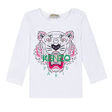 66aaa290 Amazon.com: Kenzo Baby Girl Tiger Long Sleeve T-Shirt: Clothing