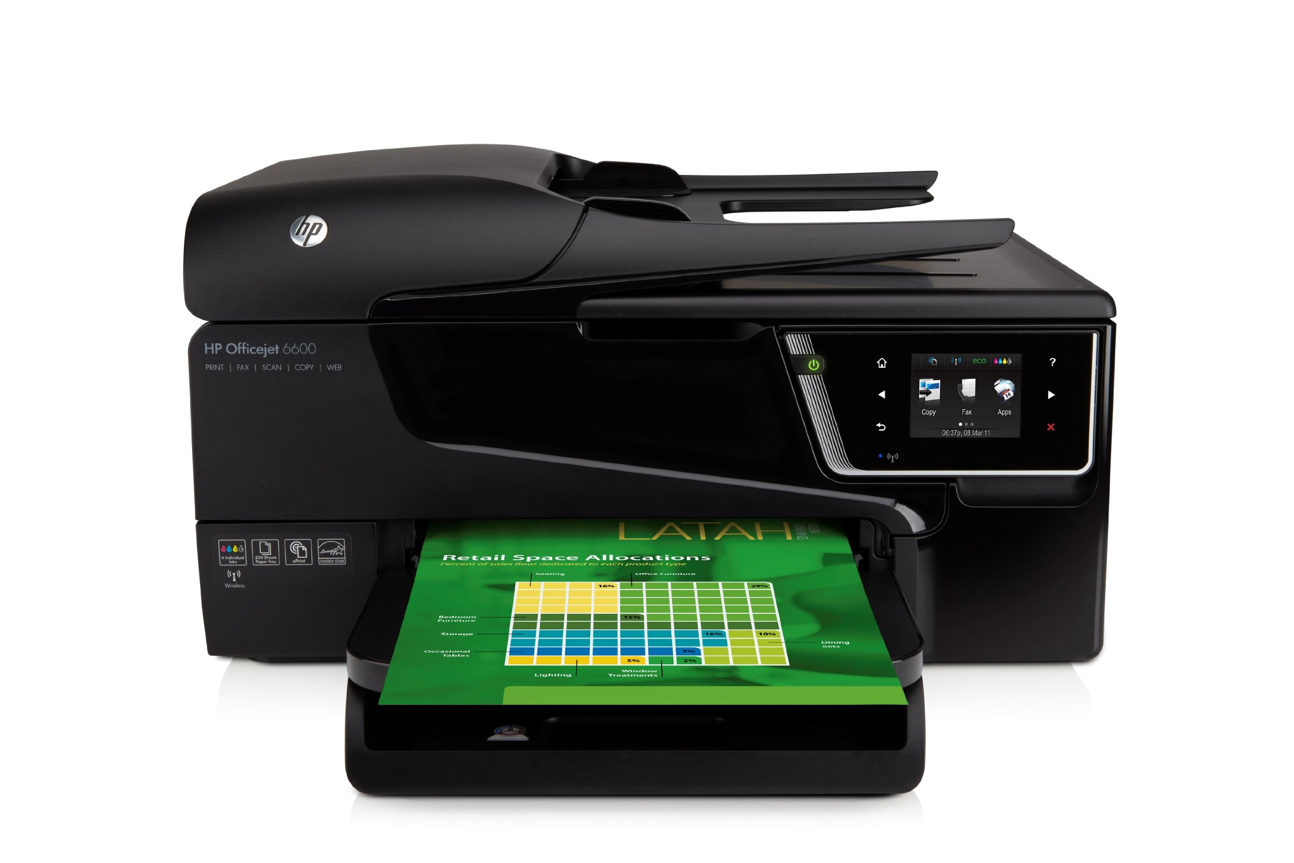 HP Officejet 6600 e-All-in-One Wireless Color Photo Printer with Scanner, Copier and Fax by HP