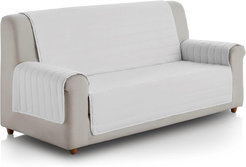 Eiffel Textile FSA0014 Cubre Sofa Acolchado Reversible, 3 Plazas, Poliéster, Gris/Gris Oscuro: Amazon.es: Hogar