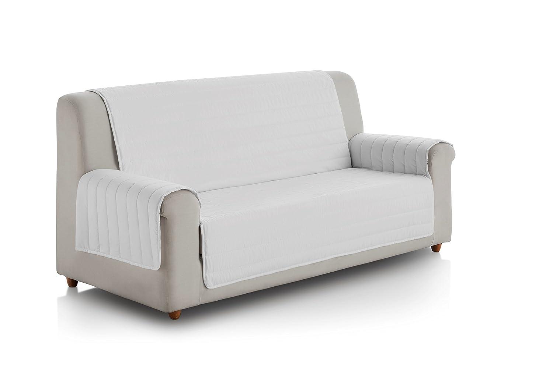 Eiffel Textile FSA0014 Cubre Sofa Acolchado Reversible, 3 Plazas, Poliéster, Gris Oscuro