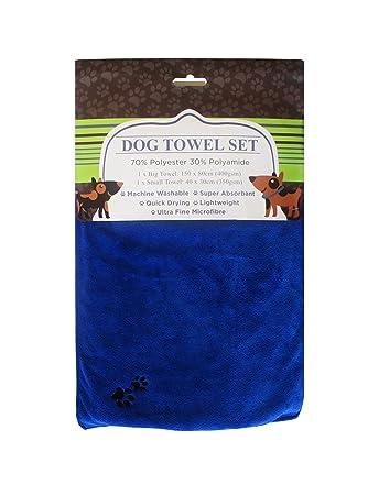 Immaculate Pets – microfibra toalla conjunto para perro – 150 x 80 cm & 40 x. Pasa ...