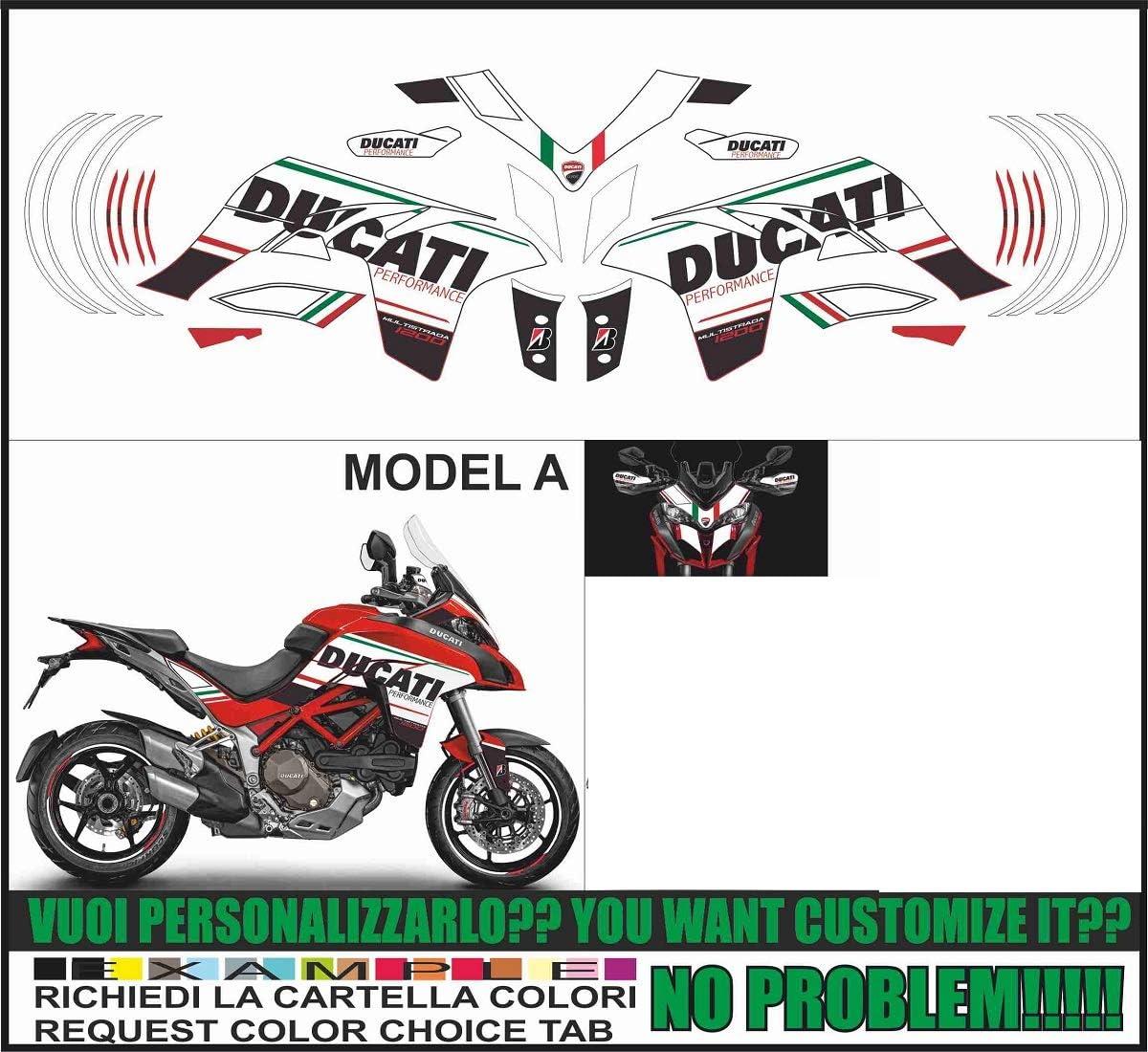Stickers Kit for Ducati Multistrada 950 - 2015/17 design