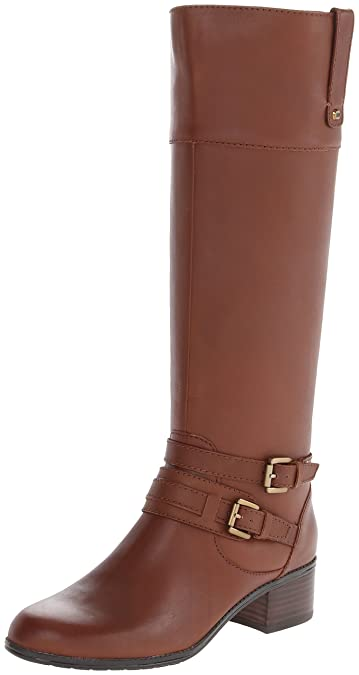 Bandolino Women's Cavendish Wide Calf Leather Riding Boot,Brown,5 ...