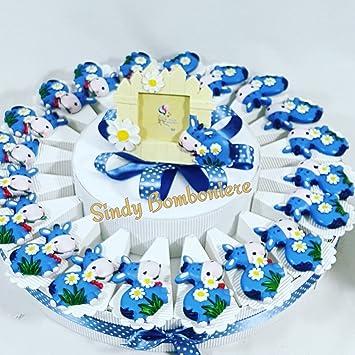 Torte Bomboniere Magnet Esel Blau Junge Geburt Taufe 1 Geburtstag