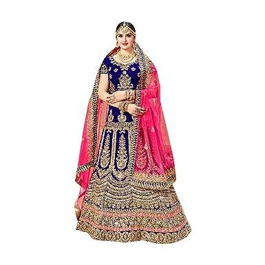 9147e257a5 Image Unavailable. Image not available for. Color: Bollywood Designer  Custom to Measure Women Blue Lehenga Chaniya Choli Dupatta Ethnic Indian ...