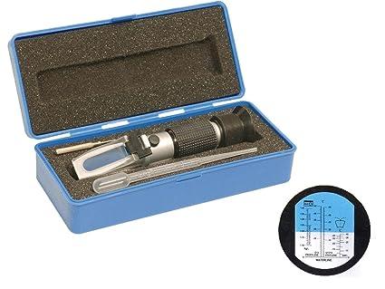 fivefire Protección contra Heladas rrfraktometer mano Ref raktometer, profesional automática Temperatura Compensación Frost – Refractómetro
