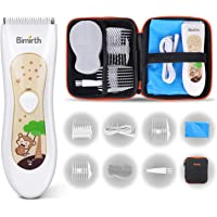 Birmirth Electric Baby Hair Clippers Kits with Accessories Storage Bag Fully Washable Waterproof Rechargeable Quiet…