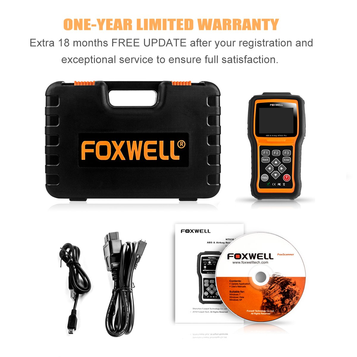 FOXWELL NT630 Scan Tool Engine / ABS / Airbag / SAS Crash Data Reset Tool  Code Reader Car Diagnostic Scanner by FOXWELL (Image #7)