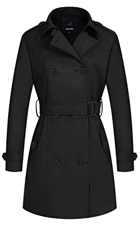 884d2071148e Amazon.com  Wantdo Women s Double-Breasted Trench Coat with Belt ...