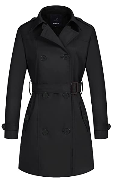 Double Breasted With Belt Trench Women's Wantdo Coat iPXkZu