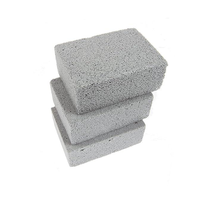 Aoutdoor - Limpiador de ladrillos para parrillas de limpieza, 3 unidades, color gris: Amazon.es: Jardín