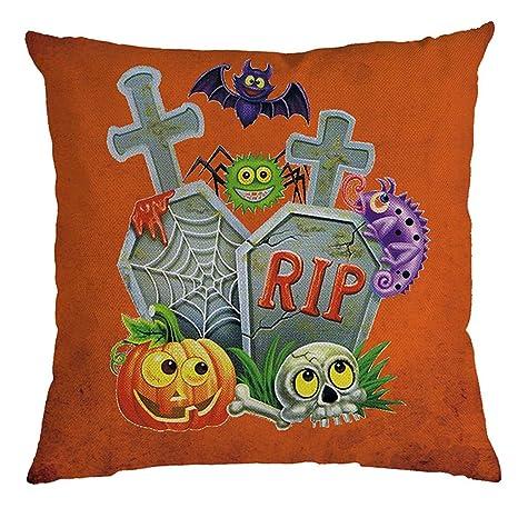 CLOOM Fundas de Almohada Decorativas de Halloween Funda de ...
