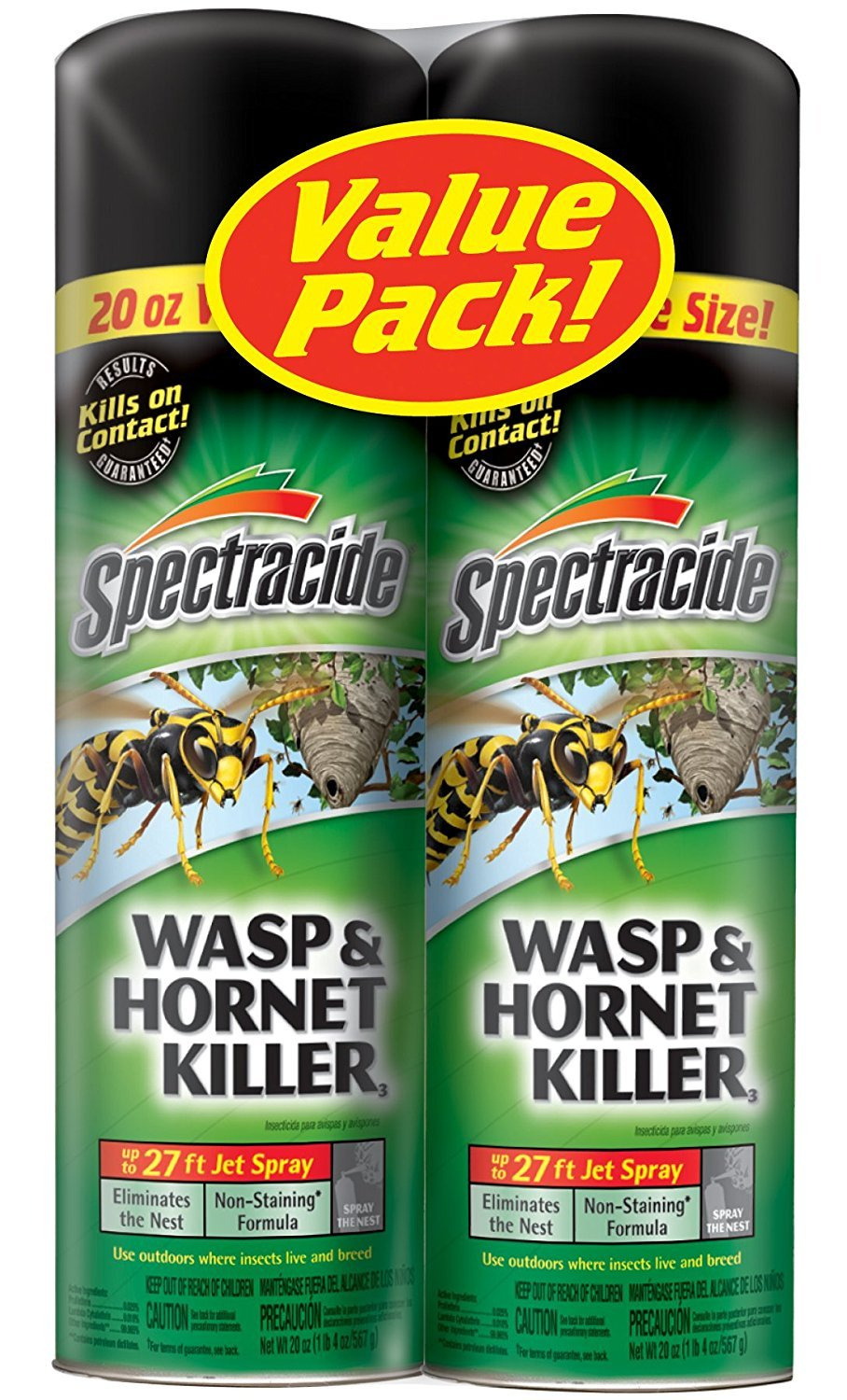 Spectracide Wasp and Hornet Killer Aerosol, 20-Ounce, 2-Pack by Spectracide