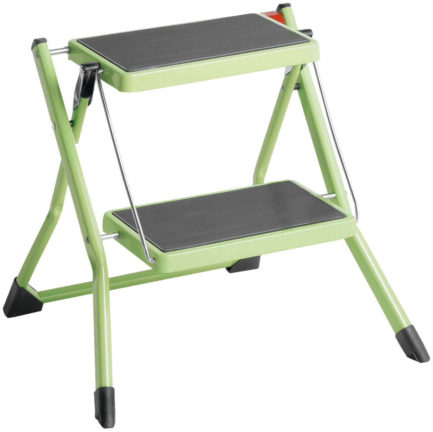 150 kg Capacity Hailo 4310-151 Mini small and compact folding steps 2 large steps with non-slip mats