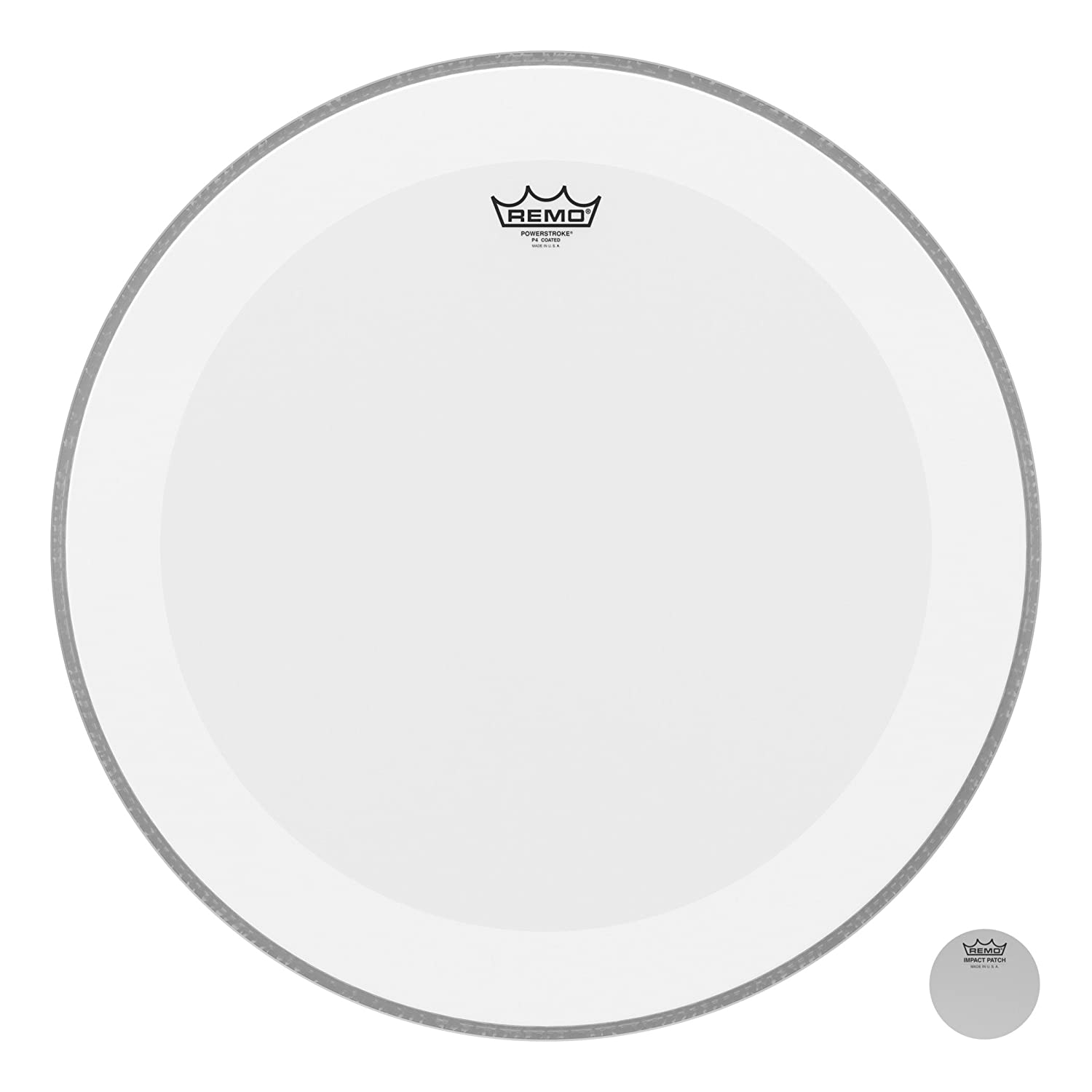 Remo Powerstroke P4 Coated Bass Drumhead, 22