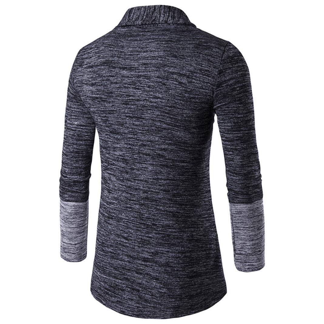 UJUNAOR Mens Autumn Winter Sweater Cardigan Knit Knitwear Coat Jacket Sweatshirt