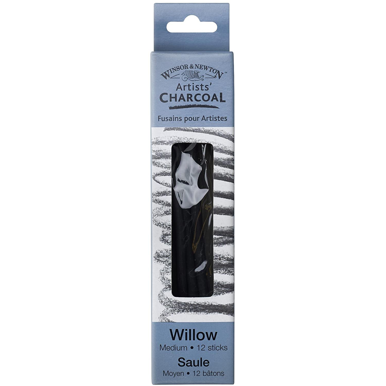 Winsor & Newton 7005170 Artists' Willow Charcoal (Box of 3 Sticks), Medium