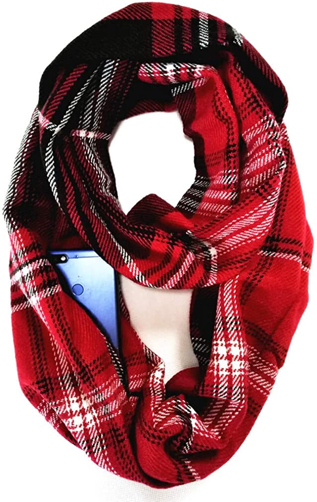 Winter Women Warm Plaid...