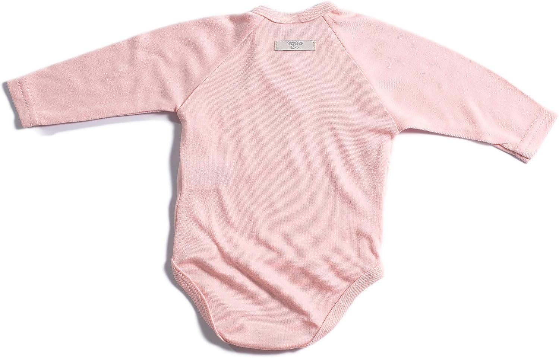 Booboobro Unisex Baby Langarm Wickelbody im 2er Pack aus 100/% Bambus