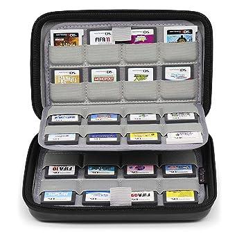 Sisma Estuche de juegos para 64 cartuchos Nintendo 3DS 2DS DS ...