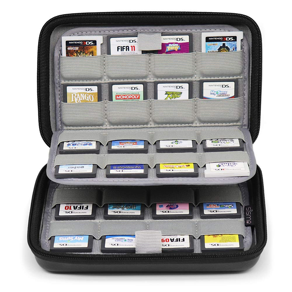 Sisma 64 Game Cards Holder Universal Storage Case for Organizing Nintendo 3DS 2DS DSi Switch Game Cartridges - Black SVG190402GC