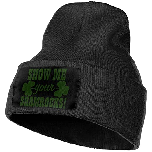 NGFF Women   Men Show Me Your Shamrocks Winter Warm Beanie Hats Stretch  Skull Ski Knit dde5ddfd8c6