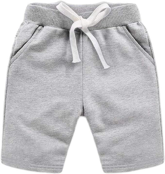 Joe Wenko Big Boy Summer Knee Length Elastic Waist Faded Hot Denim Shorts