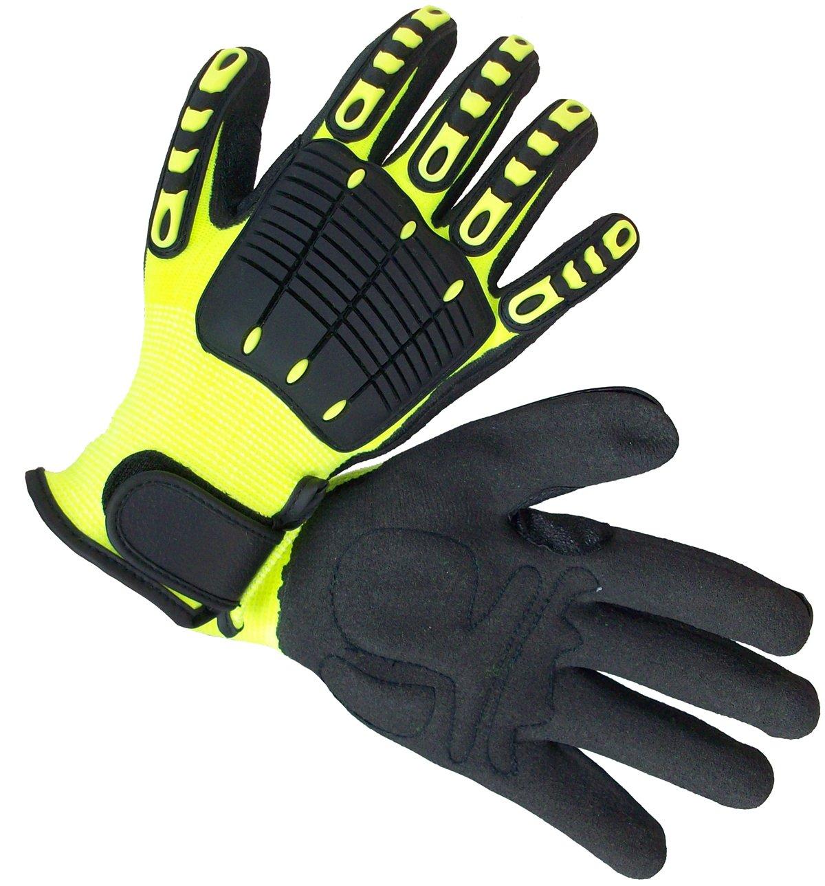 Impacto NS2800050 Anti-Impact Back Tracker Glove, Black