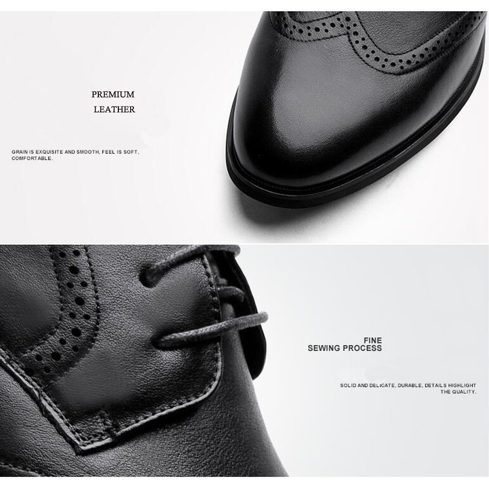 JUNBOSI Hochwertige Hochwertige Hochwertige Retro Bullock Carved Schuhe Männer - Casual Herrenschuhe Soft Bottom Tide - Atmungsaktiv British Schuhe  be6fa0