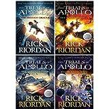 Rick Riordan Trials of Apollo Collection 4 Books Set (Dark Prophecy, Hidden Oracle, Burning Maze, The Tyrants Tomb…