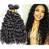 VIPbeauty Malaysian Hair Unprocessed Virgin Hair Bundle Deals Natural Black Water Wave Hair Extensions