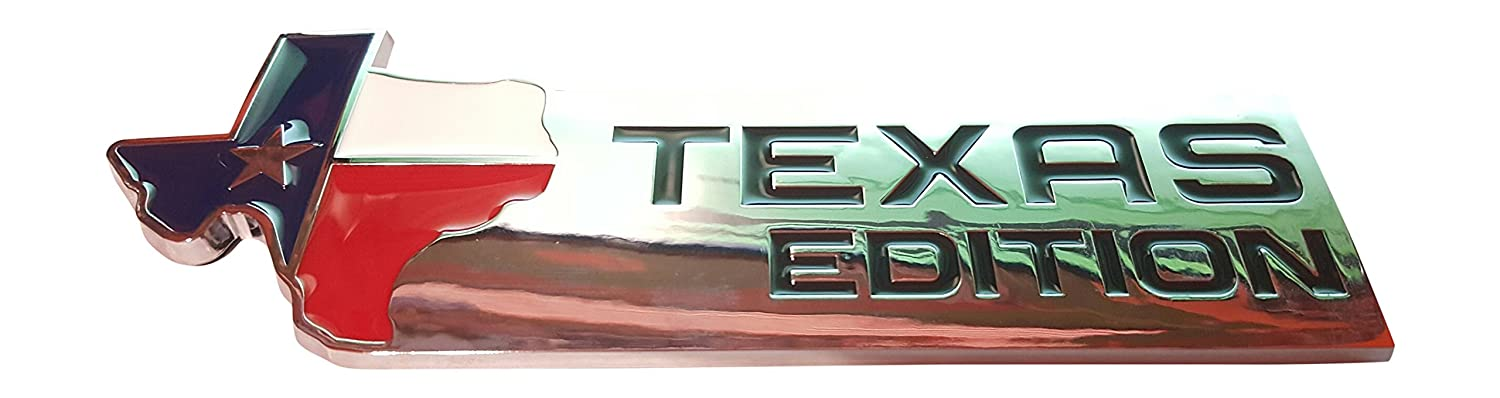 Muzzys XL TEXAS EDITION Emblem Badge for Ford 150 250 350 Tailgate, Universal Stick On Dodge Ram Toyota Tundra, Tacoma, Ford F150, Chevy Silverado, Nissan Titan, Hood, Door, Tail Gate, Grille, Fender FL3Z8442528A