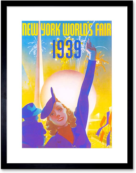 new york worlds fair vintage poster